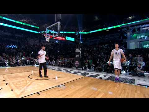 Mason Plumlee Jumps Over Brother Miles for his 2nd Dunk: 2015 Sprite Slam-Dunk Contest