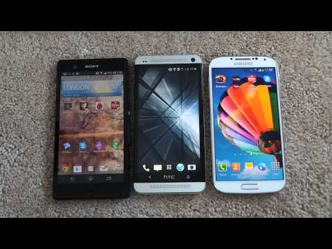 SAMSUNG GALAXY S4 VS HTC ONE VS SONY XPERIA Z