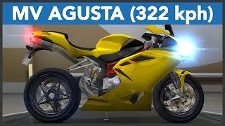 Traffic Rider Gameplay 2019 | MV AGUSTA F4 322 kph Top Speed Run | Yellow MV Agusta F4