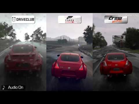 DriveClub vs Forza Horizon 2 vs The Crew Wild Run [Beta] - Rain Weather Comparison