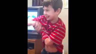 my little cousin can fart with his arms! lol