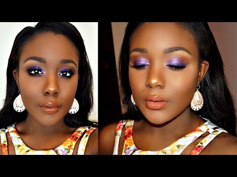 Summer Makeup Tutorial 2016 I Full Coverage Foundation Routine for Dark Skin