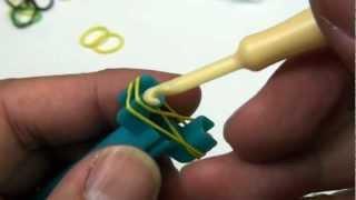 Lesson 1: Mini Rainbow Loom® video -  Single pattern bracelet