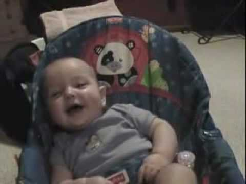 Baby Laughs and Giggles at Hiccups