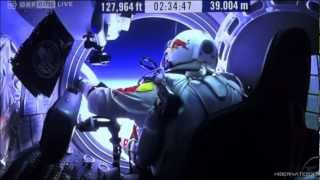UFO ON FELIX BAUMGARTNERS RED BULL STRATOS CAPSULE ON LIVE FEED 10-14-2012 HD