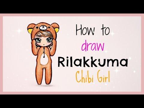 ❤ Drawing Tutorial - How to Draw Rilakkuma Chibi Girl ❤
