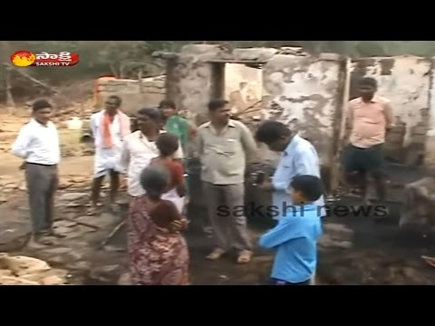 Massive Fire Accident in Kadapa District || 10 Houses Burned