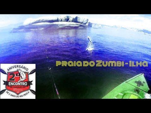 Encontro do 2º Aniversário Jornal Rio Pesca - Praia do Zumbi - Ilha do Governador -RJ - caiaque