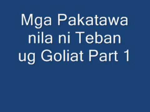 Mga Pakatawa Nila Ni Teban Ug Goliat Part 1 video