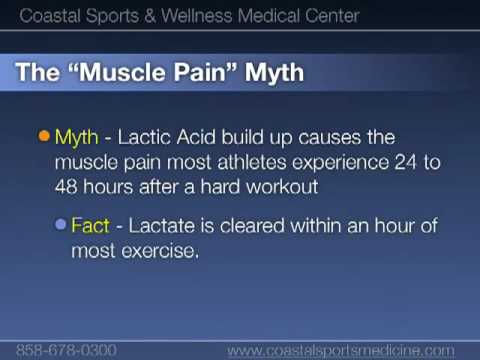 Blood Lactate Myths from San Diego sports doctors