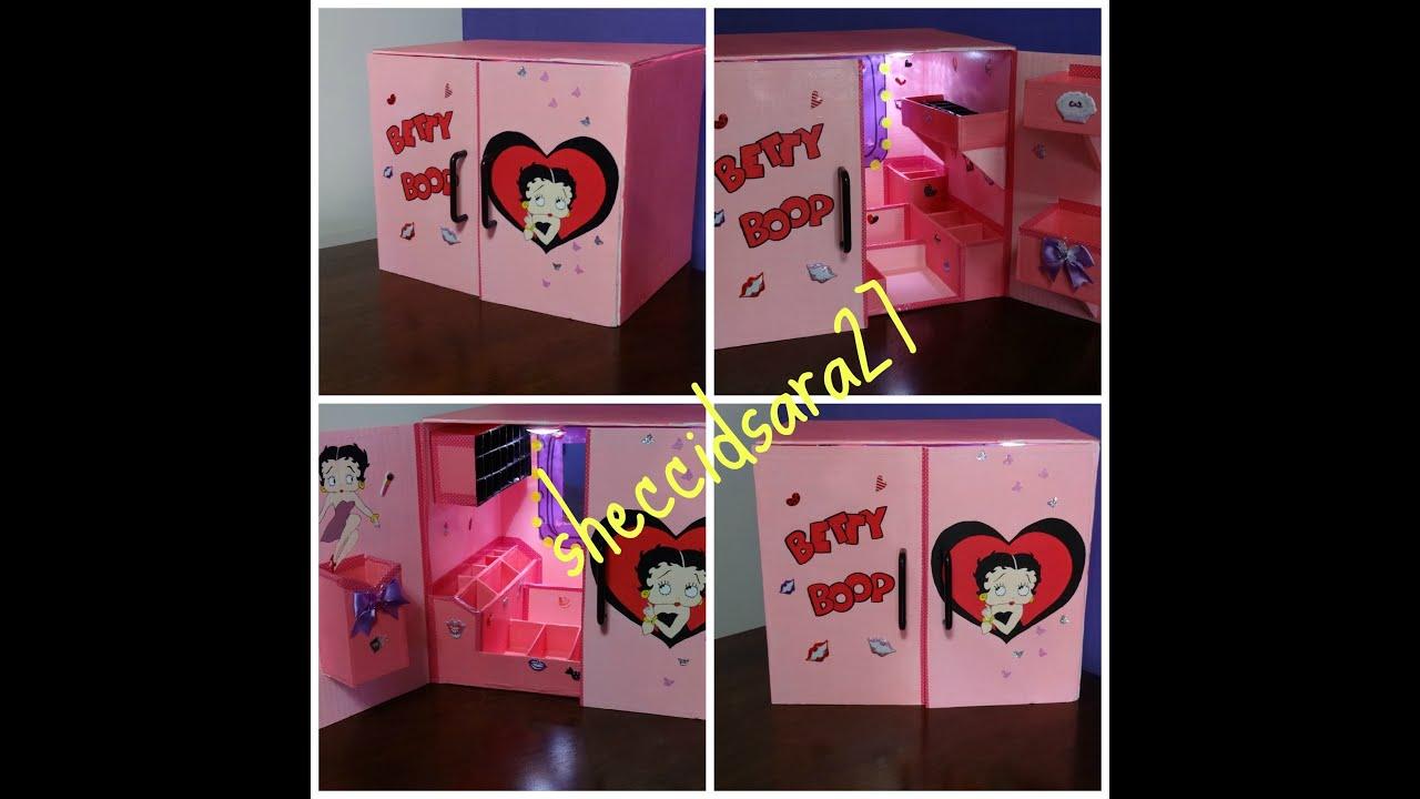 Organizador para maquillaje youtube - Imagenes de muebles de carton ...