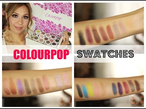 ColourPop Eyeshadow Swatches & Review!!!  My Two Cents ;-)