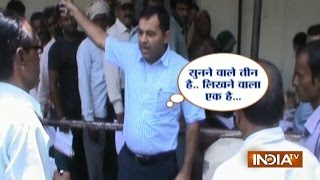 DM Vikas Narwal Scolds Officials for People