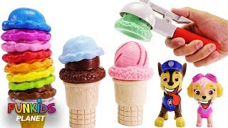 Paw Patrol & Surprise Yummy Ice Cream Cones Playset | Fun Kids Toys