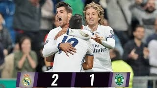 REAL MADRID 2:1 SPORTING LISBON | All Goals & Highlights | UEFA Champions League 2016 [HD]