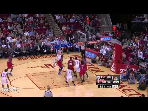 Philadelphia 76ers vs Houston Rockets 19.12.2012. Dunks