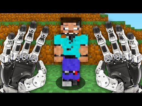 REALISTIC MINECRAFT - STEVE BECOMES A ROBOT!🤖