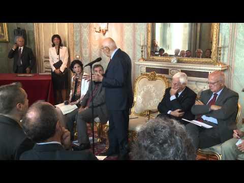 Il Presidente Napolitano con una delegazione dell'Istituto Nazionale di Fisica Nucleare e del CERN