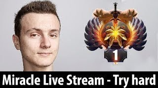 Pro Ranked Match Stream by Miracle Dota 2 Most Pro Player of All Time