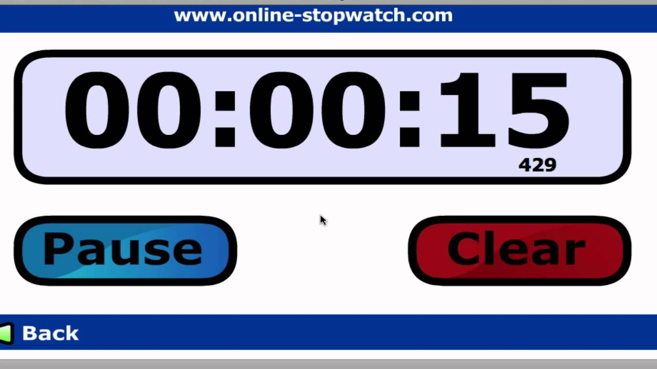 """Let's play """"Online Stopwatch"""""""