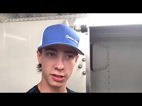 2015-08-29 Sunset Speedway Jordan Howse Graham Landscape Mini Stock Post-Race
