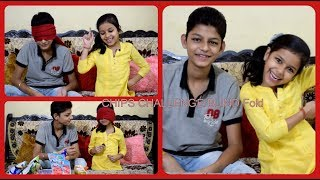 Guess the Chips Challenge/ Chips Challenge/ Chips blind fold guess  challenge