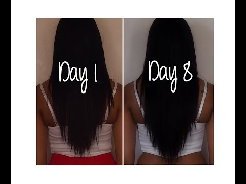 7 Day Hair Challenge ♡ How to Grow your Hair Fast. Easy and Naturally