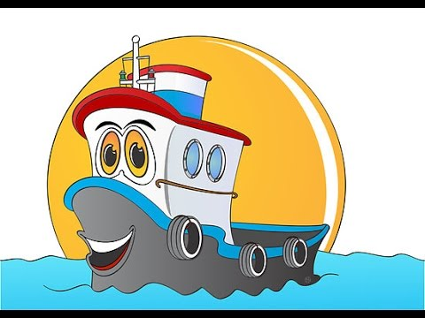 Dessin anim de bateau pour les enfants youtube - Dessin petit bateau ...