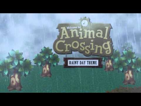 Animal Crossing Rainy Day Theme (Animated Desktop 1 Hour Loop Extended)[どうぶつの森雨 BGM]