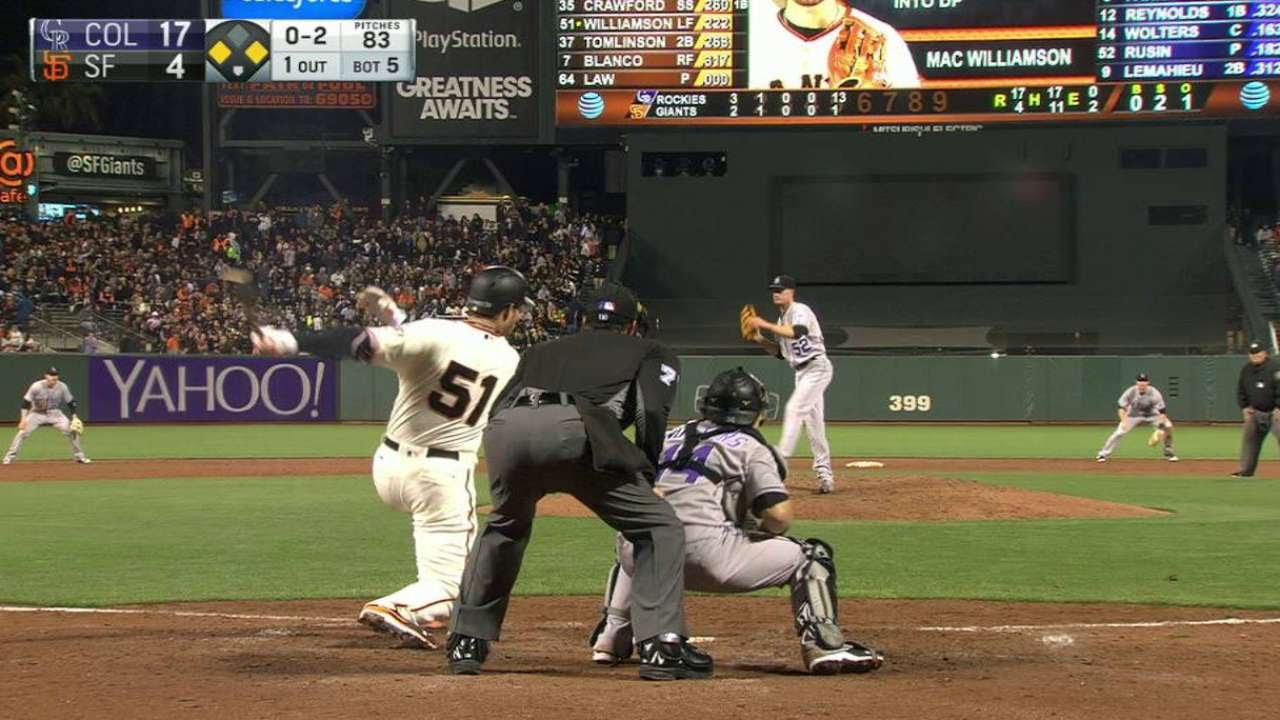 COL@SF: Williamson singles and collects an RBI