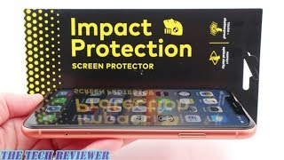 RhinoShield Impact Protection Screen Protector for iPhone XR: Easy Install & 5x Impact Protection!