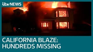 Number of people missing in California wildfire rises to more than 600 | ITV News