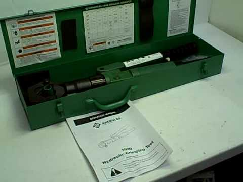 greenlee 1990 dieless hydraulic crimp tool crimper youtube. Black Bedroom Furniture Sets. Home Design Ideas