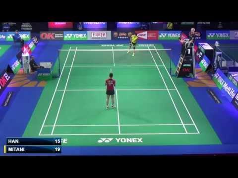 R32 - WS - Minatsu Mitani vs Li Han - 2014 Badminton Denmark Open