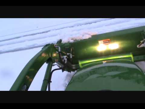 Plowing Snow with a John Deere 2305