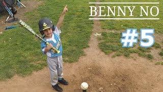 TEE BALL PLAYER CALLS HIS SHOT   BENNY NO   TEE BALL SERIES #5