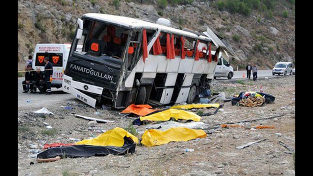 Автобус в Турции, перевозящий российских туристов, чуть не ушел в пропасть
