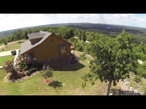 Arkansas Log Home overlooking Bull Shoals Lake