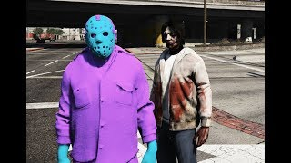 GTA 5 - Jeff the killer tranh giành với Jason - Ai là kẻ mạnh | GHTG
