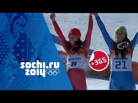 Gisin & Maze Tie For Gold - Ladies' Downhill Alpine Skiing Full Event | #Sochi365