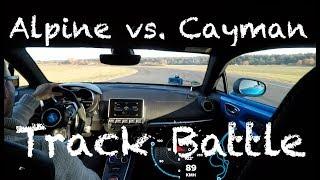 Alpine A110 vs. Porsche Cayman // Track Battle Hot Lap Contidrom
