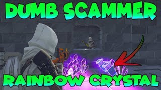 Dumb Scammer Has 1000 Rainbow Crystal (Scammer Gets Scammed) Fortnite Save The World