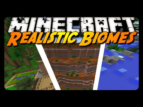 Minecraft Mod Review: REALISTIC WORLD GENERATION!
