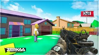 SIMPSONS SPRINGFIELD CUSTOM MAP! (Black Ops 3 Custom Zombies)