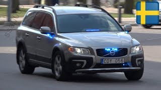 Polis utryckning Volvo XC70 + V90 CC Norrköping [SE | 4.2019]