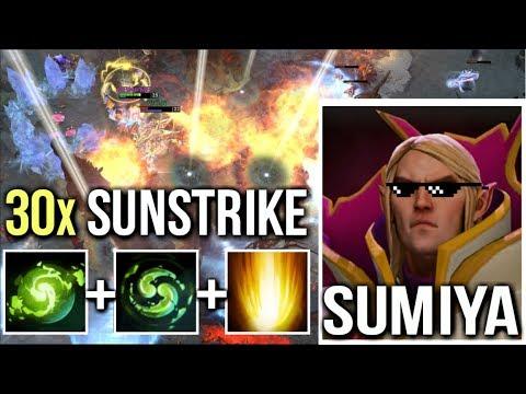 30x SUNSTRIKE SumiYa BEST Invoker Cataclysm OMG Combo Godlike Gameplay Dota 2