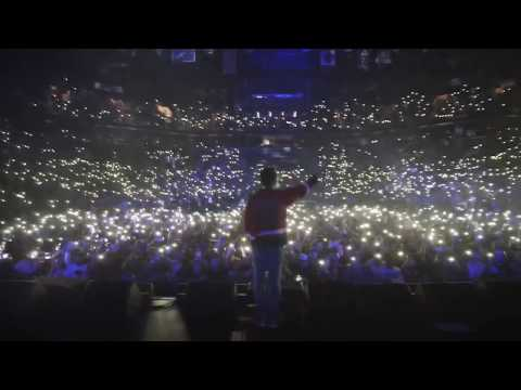Logic has the entire arena sing 1-800-273-8255 for him