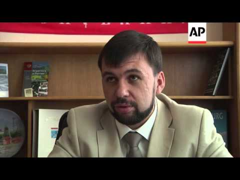 Donetsk separatist leader comments on Poroshenko's inauguration