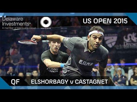 Squash: Delaware Investments US Open 2015 - QF Highlights - Elshorbagy v Castagnet
