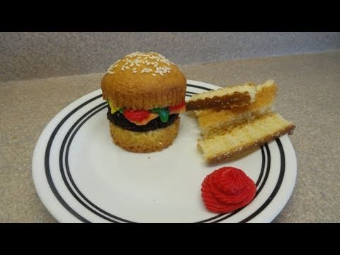 Decorating Cupcakes #52: Hamburger and fries